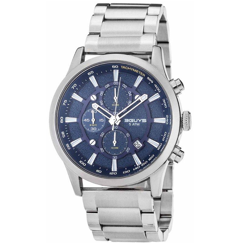 Ρολόι 3GUYS Silver Stainless Steel Bracelet - 3G03021