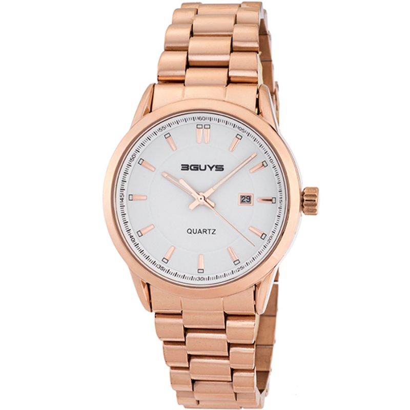 Ρολόι 3GUYS Rose Gold Stainless Steel Bracelet - 3G05003