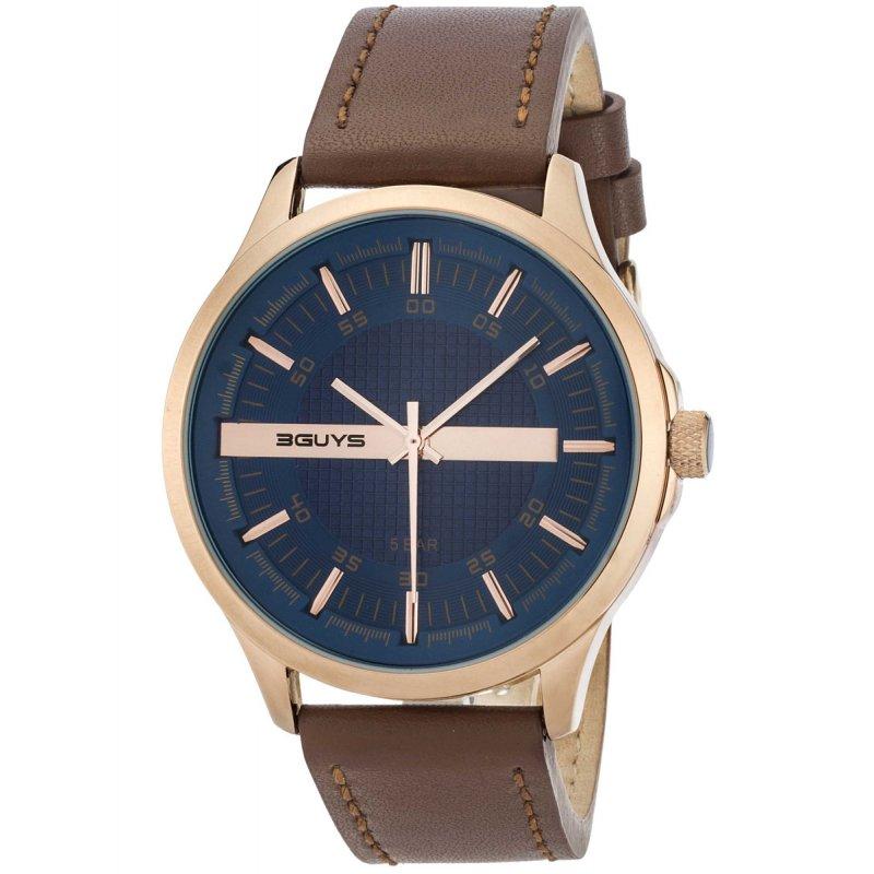 Ρολόι 3GUYS Brown Leather Strap - 3G50023