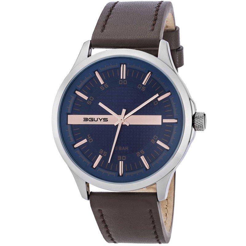 Ρολόι 3GUYS Brown Leather Strap - 3G50024