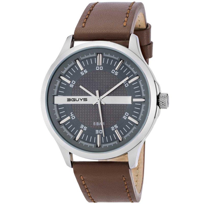 Ρολόι 3GUYS Brown Leather Strap - 3G50025
