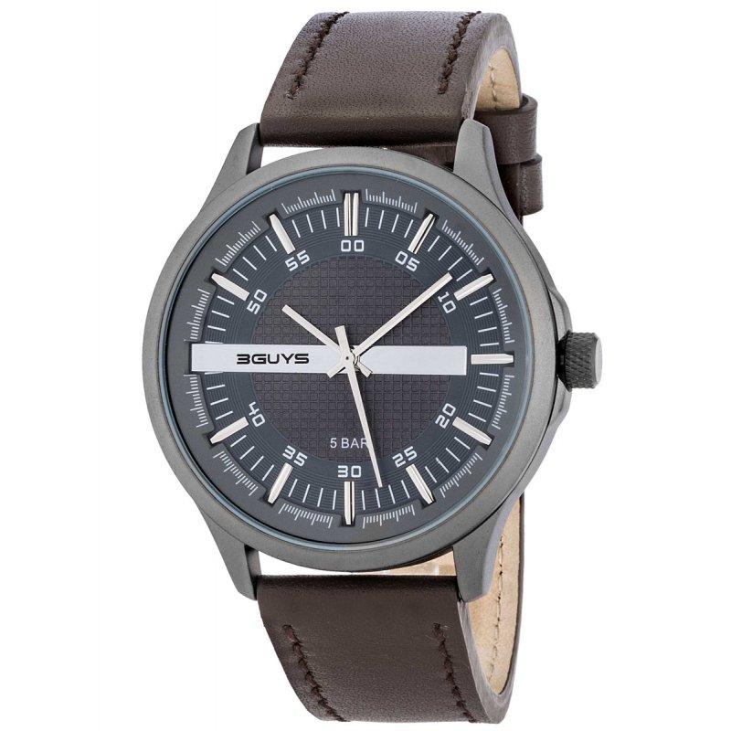 Ρολόι 3GUYS Brown Leather Strap - 3G50026