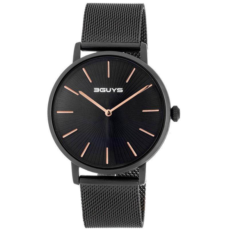 Ρολόι 3GUYS Black Stainless Steel Bracelet - 3G67505