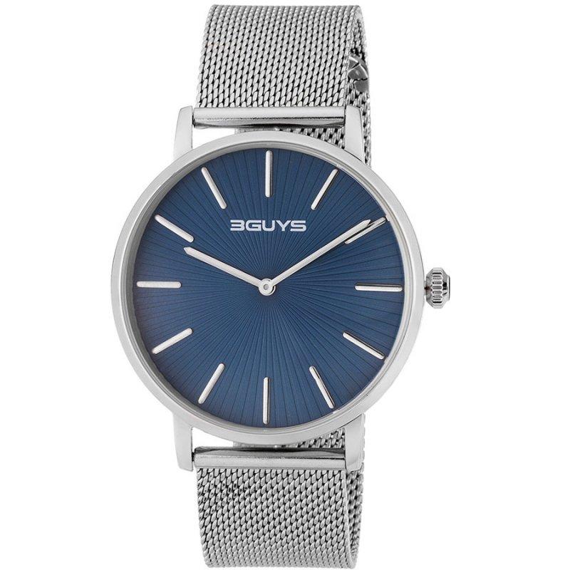Ρολόι 3GUYS Silver Stainless Steel Bracelet - 3G67506