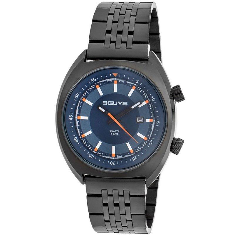 Ρολόι 3GUYS Black Stainless Steel Bracelet - 3G77505
