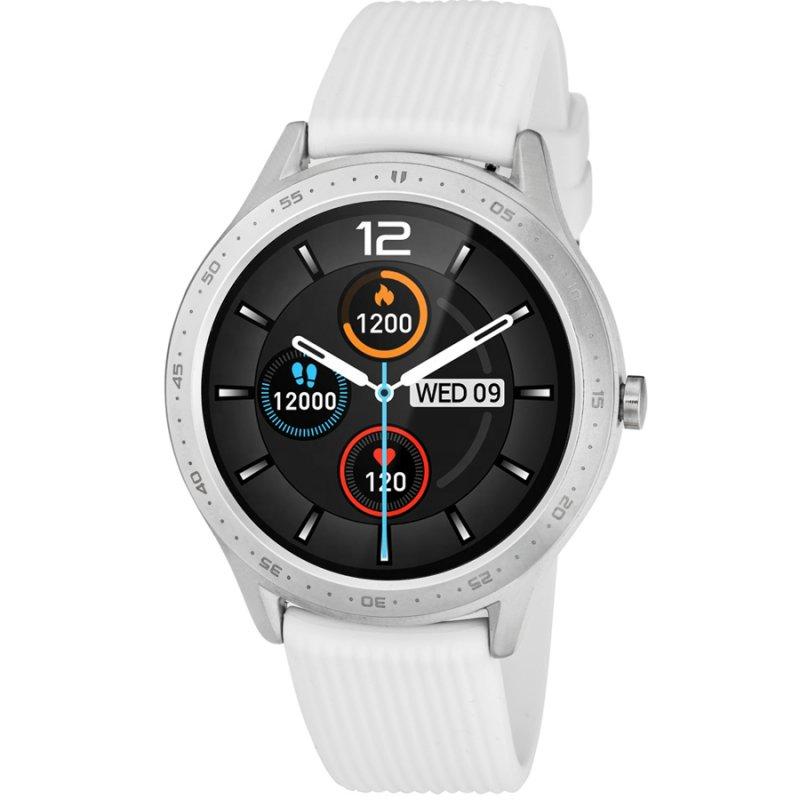 Ρολόι 3GUYS Smartwatch White Rubber Strap - 3GW4022