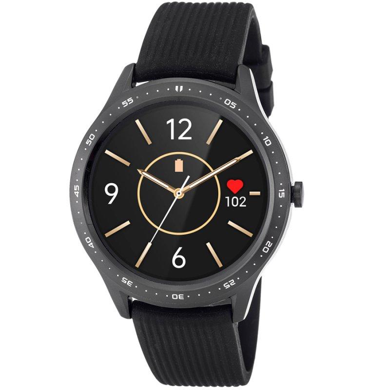 Ρολόι 3GUYS Smartwatch Black Rubber Strap - 3GW4023