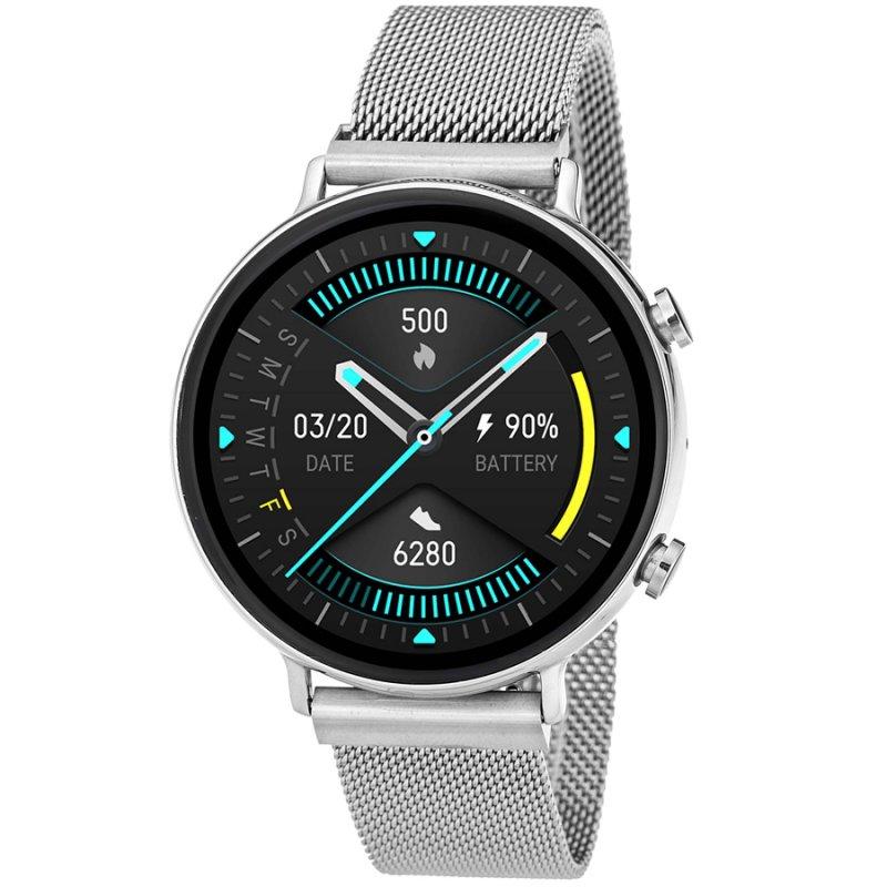 Ρολόι 3GUYS Smartwatch Bluetooth Calls Silver Stainless Steel Bracelet - 3GW6032