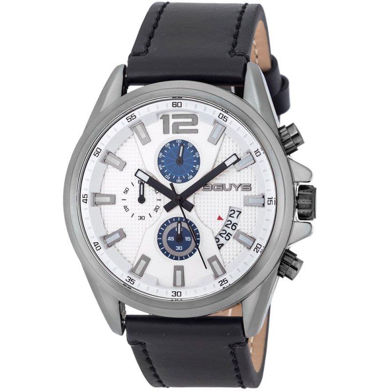 Ρολόι 3GUYS Black Leather Strap - 3G49001