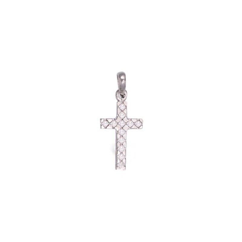 Σταυρός Γυναικείος Al' Oro Λευκόχρυσο Κ14 - ATA287