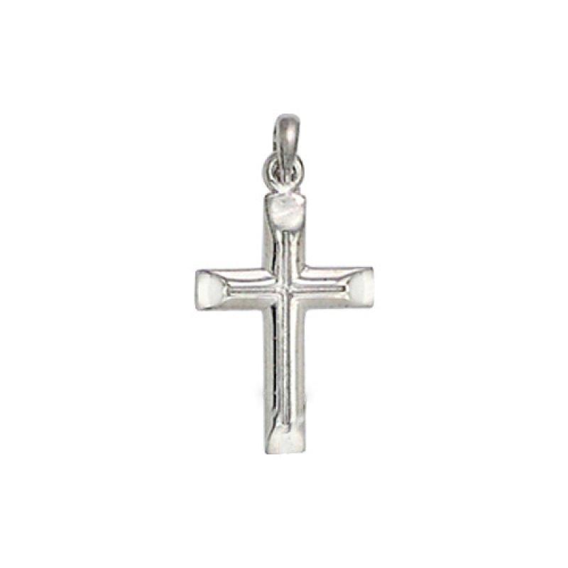 Σταυρός Ανδρικός Al' Oro Λευκόχρυσο Κ14 - ATX189