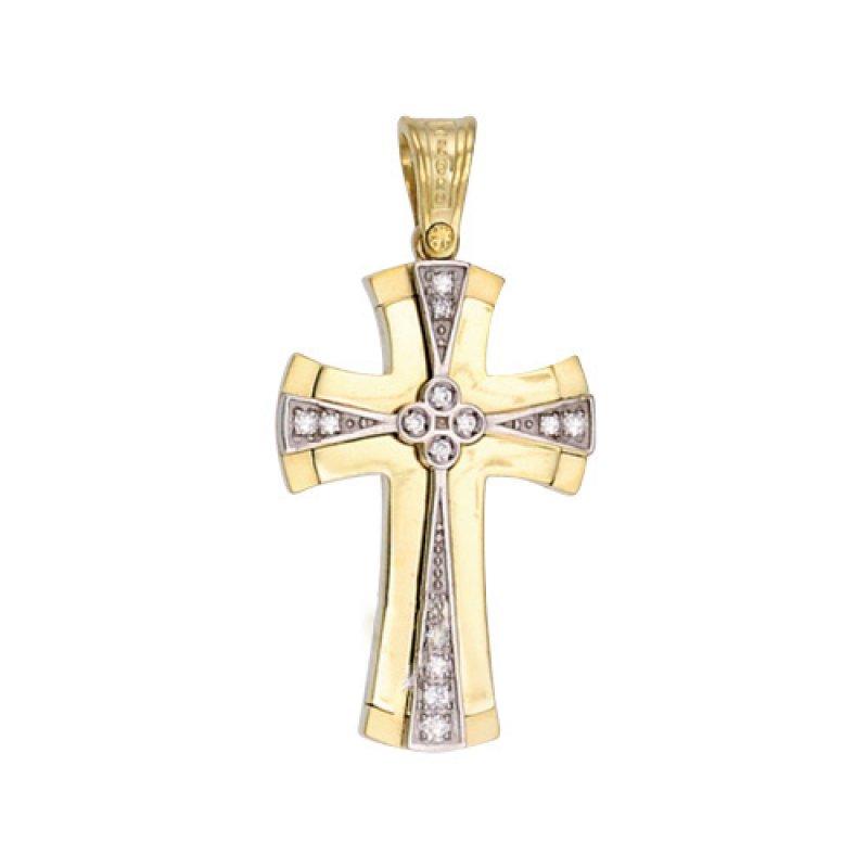 Σταυρός Γυναικείος Al' Oro Χρυσό Κ14 - KTA199