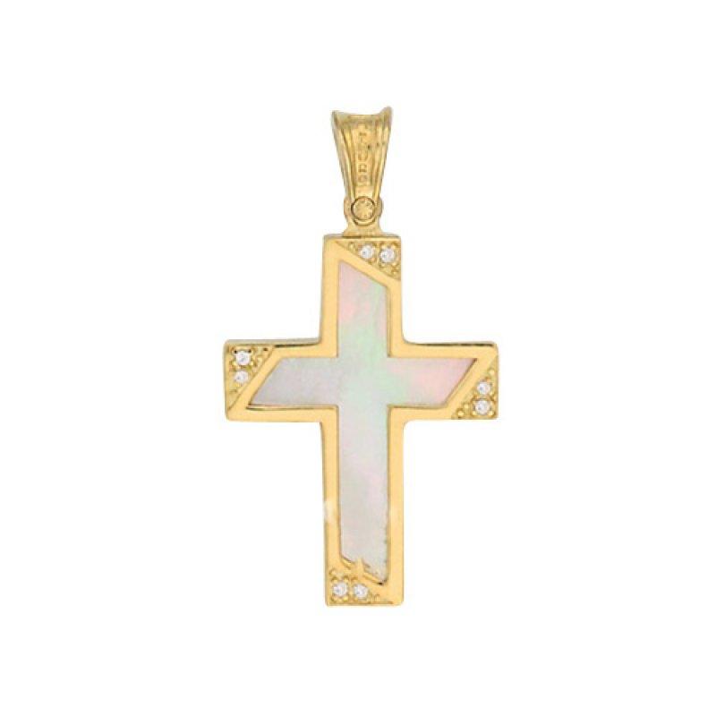 Σταυρός Γυναικείος Al' Oro Χρυσό Κ14 - KTA302