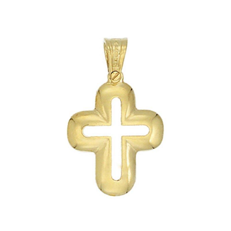 Σταυρός Ανδρικός Al' Oro Διάτρητος Χρυσό Κ14 - KTX200