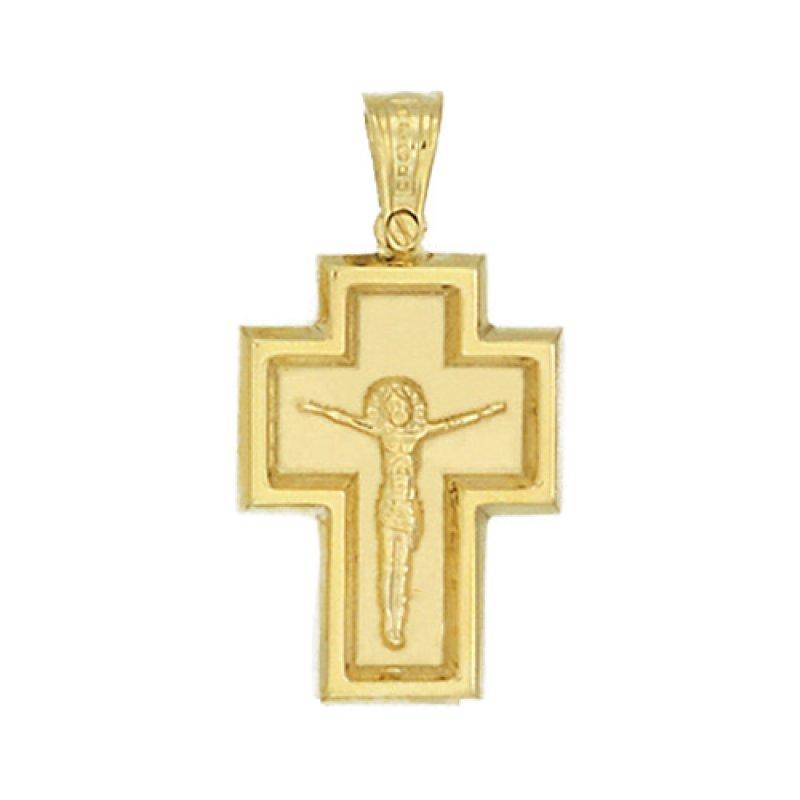 Σταυρός Ανδρικός Al' Oro Χρυσό Κ14 - KTX206