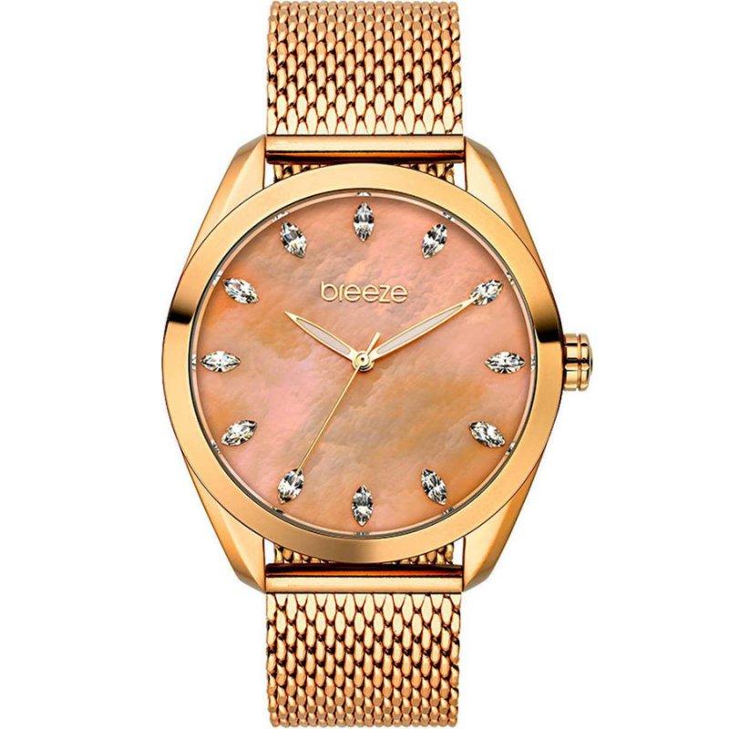 Ρολόι BREEZE Aurora Crystals Rose Gold Stainless Steel Bracelet - 210941.4