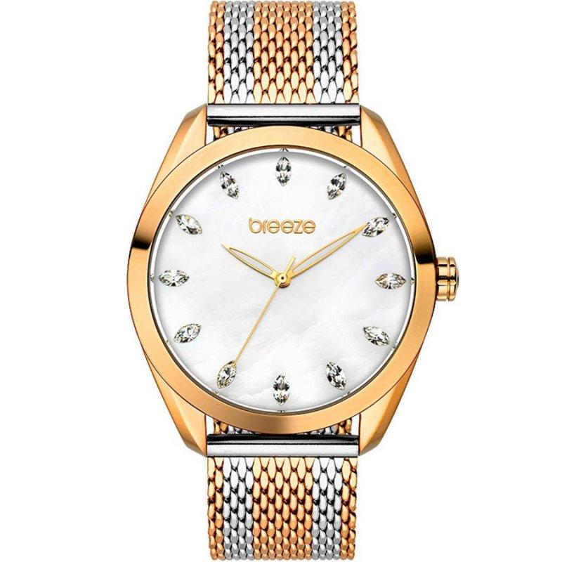 Ρολόι BREEZE Aurora Crystals Two Tone Stainless Steel Bracelet - 710941.4