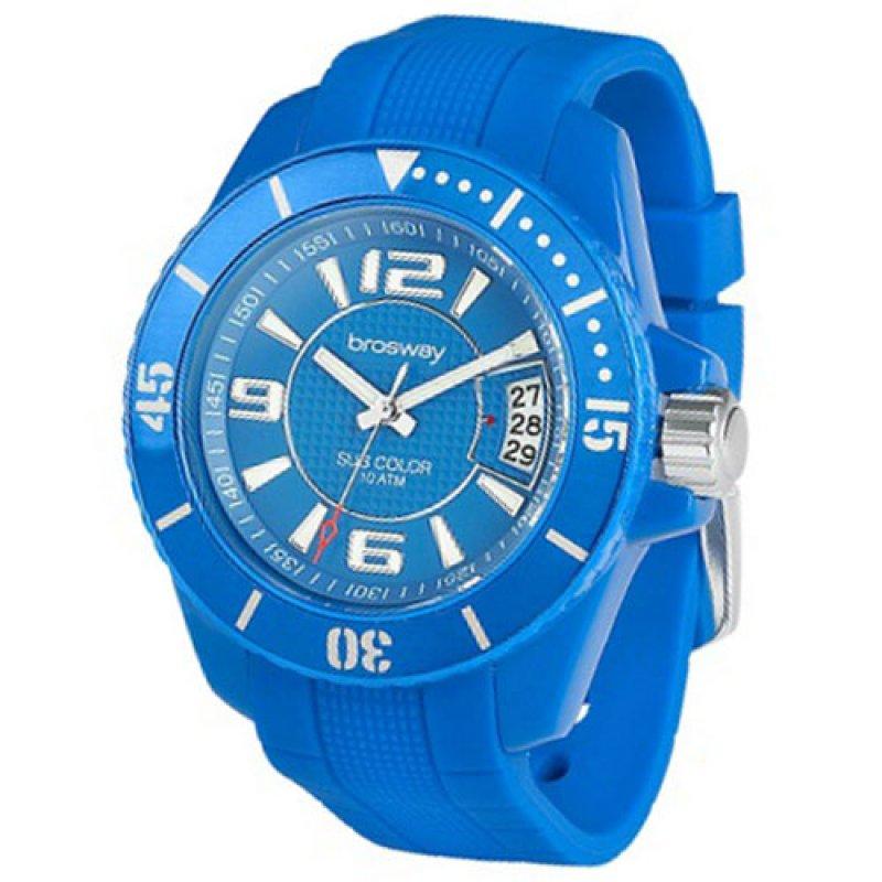 Ρολόι Brosway Blue Dial and Rubber Strap - SB02