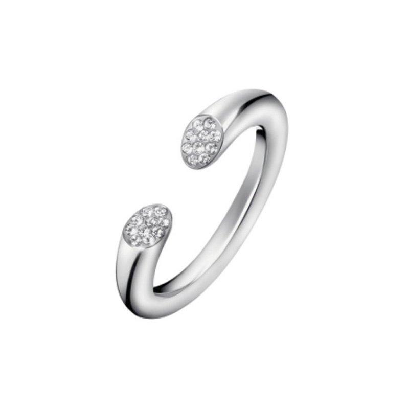 Δαχτυλίδι Calvin Klein Brilliant Silver Swarovski από Ατσάλι - KJ8YMR0401