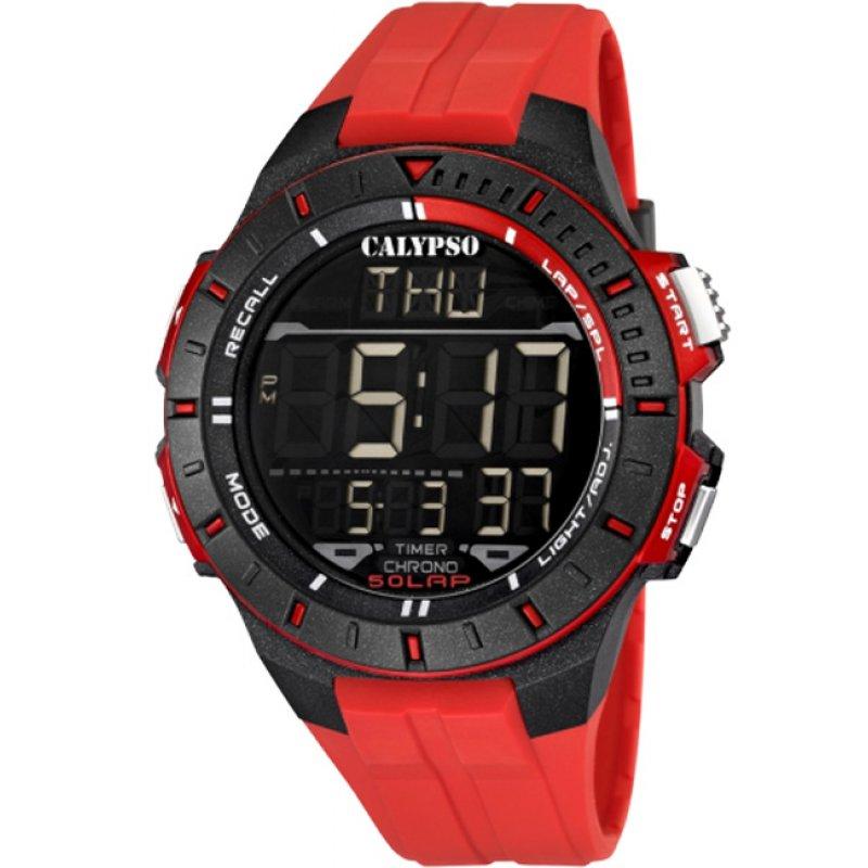 Ρολόι CALYPSO Digital Rubber Strap - K5607-5