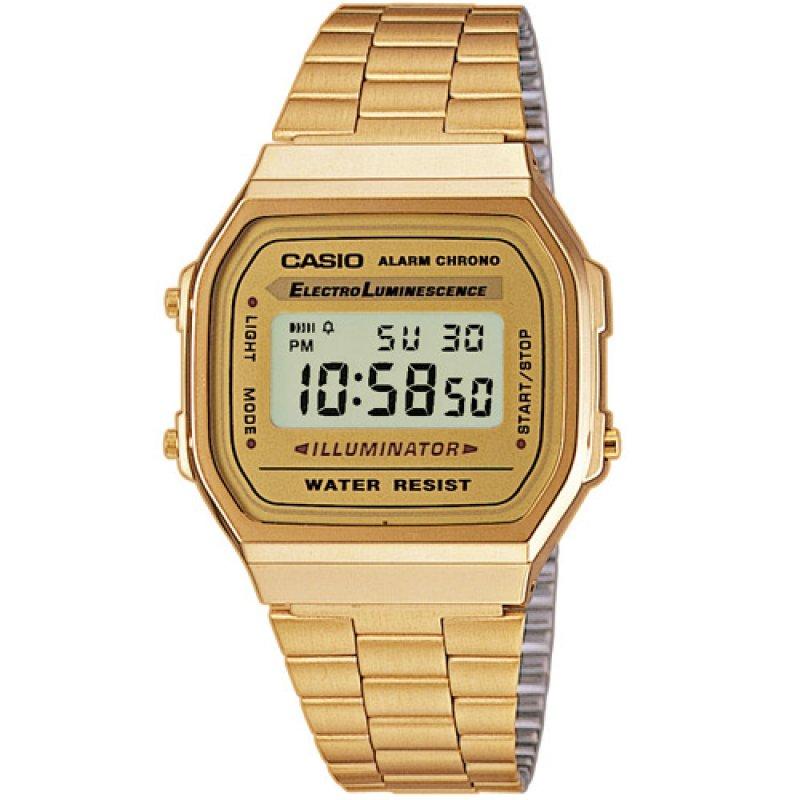 Ρολόι Casio Collection Gold Stainless Steel Bracelet - A-168WG-9EF