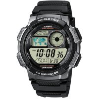 Ρολόι Casio Men's Collection Digital Chrono Black Rubber Strap