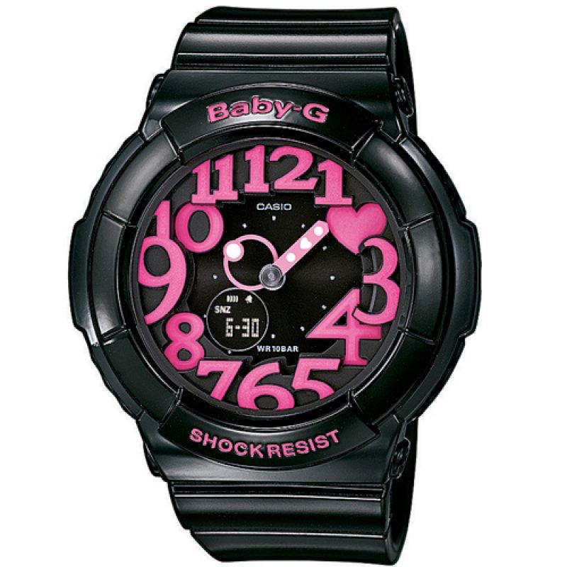 Ρολόι Casio Baby-G Shock Resistant Black Rubber Strap - BGA-130-1BER