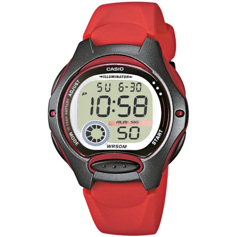 Ρολόι Casio  Lady's Collection Red Rubber Strap - LW-200-4AVEF