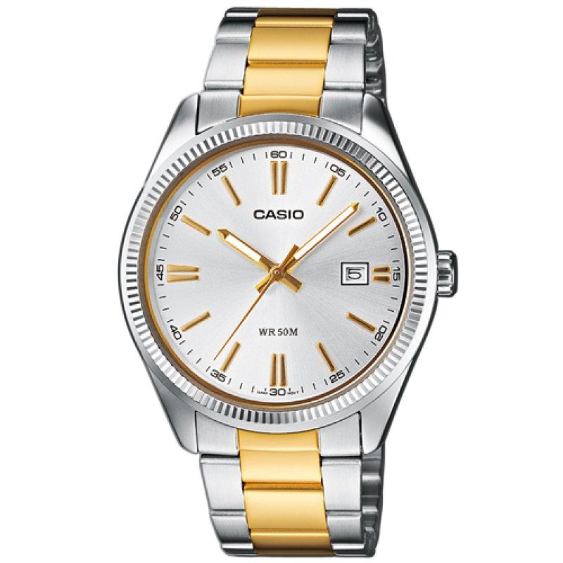 Ρολόι Casio Men's Collection Neobrite Silver-Gold Steel Bracelet - MTP-1302SG-7AVEF