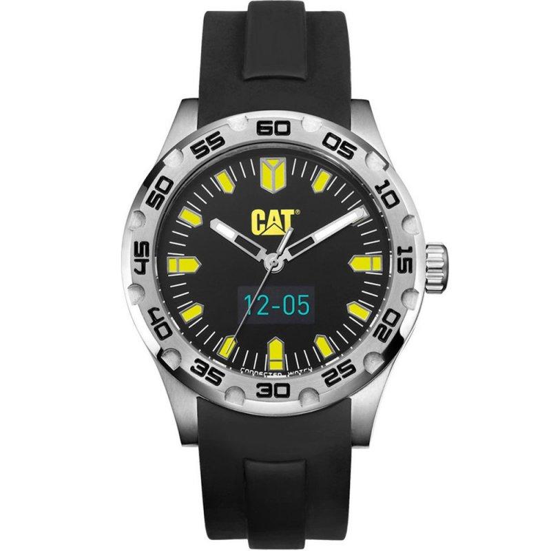 Ρολόι CATERPILLAR C-Smart Touchscreen Smartwatch Black Rubber Strap - B114521127