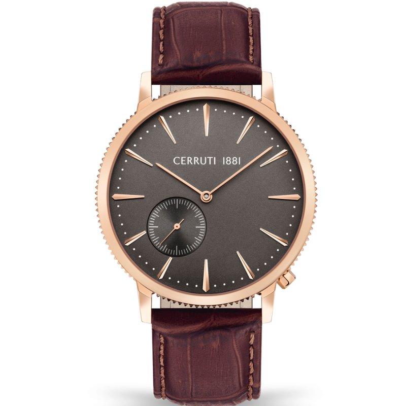 Ρολόι CERRUTI 1881 Carano Brown Leather Strap - CIWGA2111502
