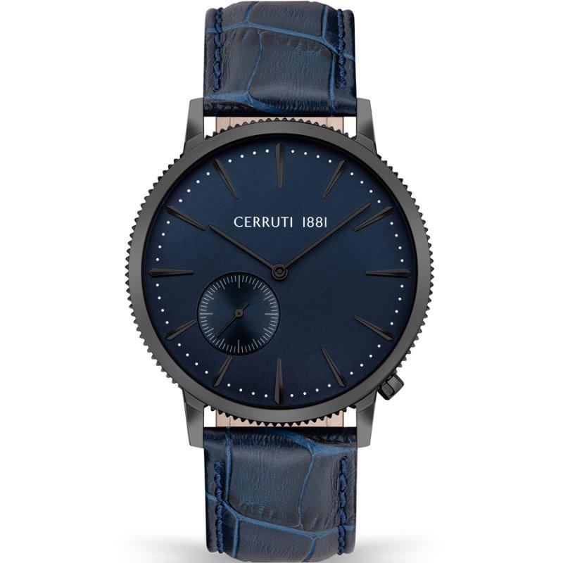 Ρολόι CERRUTI 1881 Carano Blue Leather Strap - CIWGA2111503