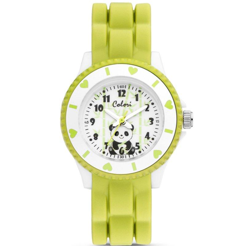 Ρολόι COLORI Kids Green Rubber Strap - CLK112