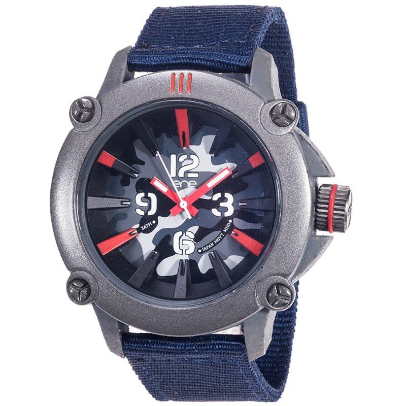 Ρολόι ENE 110 Camouflage Grey Case Black Fabric Strap - 640000111