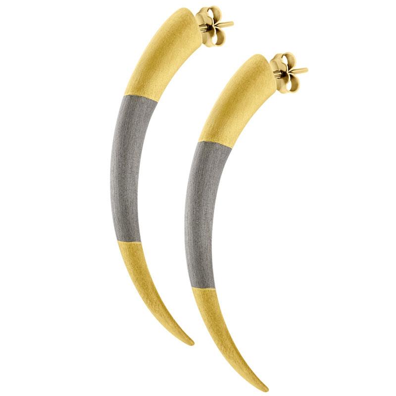 Σκουλαρίκι HONOR Tiger Claws Gold Silver - E35