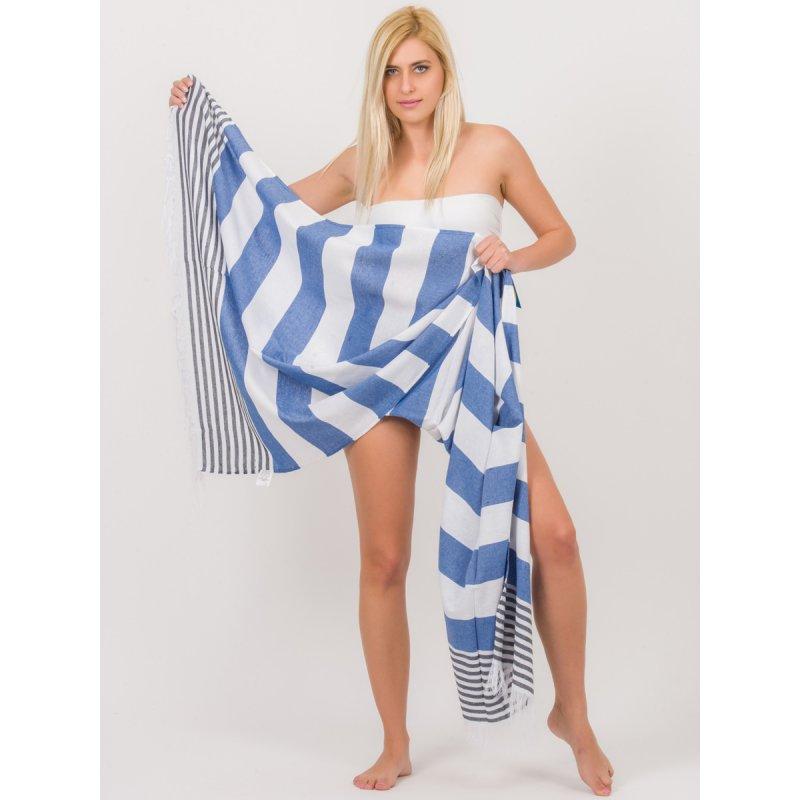 Πετσέτα Θαλάσσης JALOUX Blue Cotton Pestemal 195cm x 95cm - TAG273-R.BLUE-NAVY6