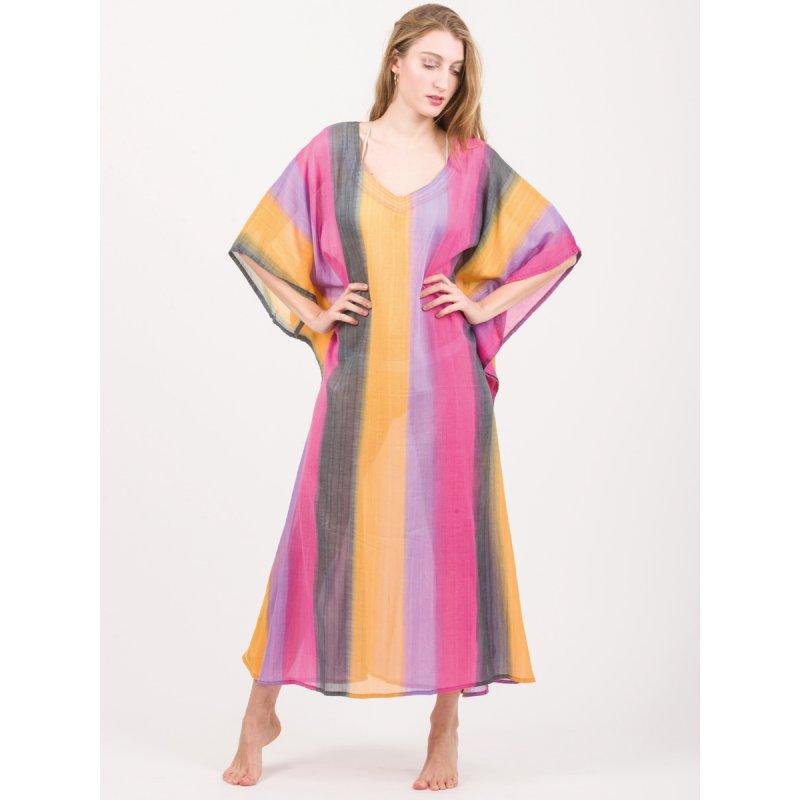 Καφτάνι JALOUX Multi Colour Cotton Ημιδιαφανές - TAG679-15