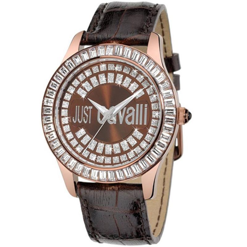 Ρολόι Just Cavalli Ice Brown Leather Strap - R7251169055
