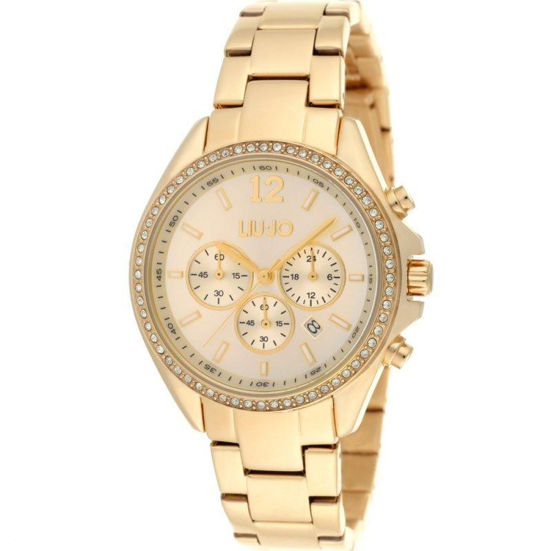 Ρολόι LIU JO Premiere Chronograph Gold Steel Bracelet - TLJ1039