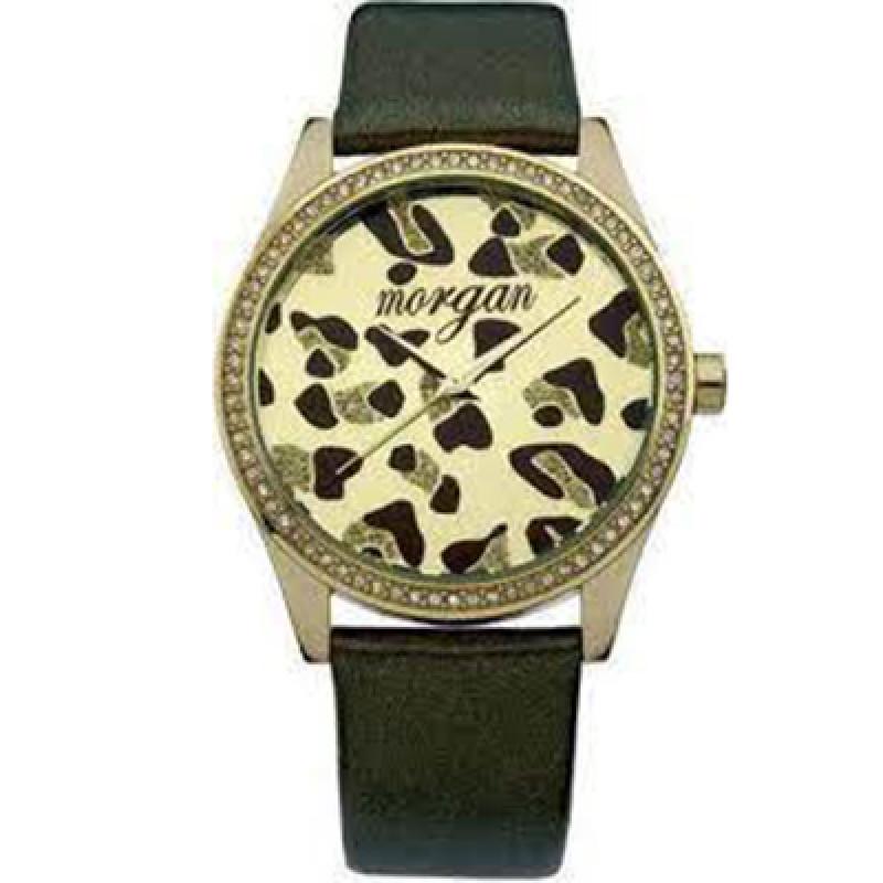 Ρολόι Γυναικείο Morgan Gold Case - Brown Leather Strap - M1070T