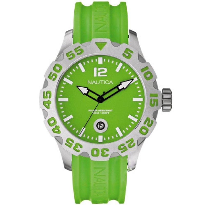 Ρολόι Nautica BFD 101 Unisex Green Dial & Rubber Strap - A14605G