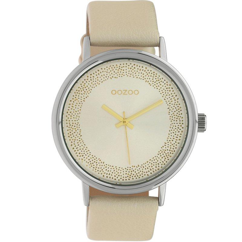 Ρολόι OOZOO Timepieces Beige Leather Strap - C10097