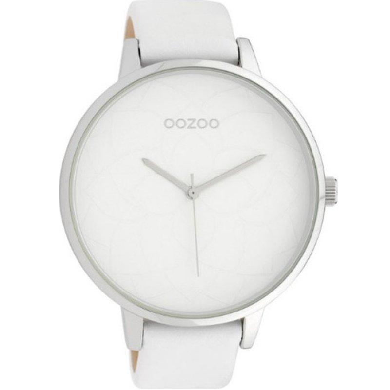 Ρολόι OOZOO Timepieces XXL White Leather Strap - C10100