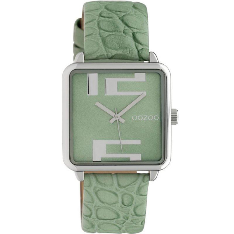 Ρολόι OOZOO Timepieces Green Leather Strap - C10367