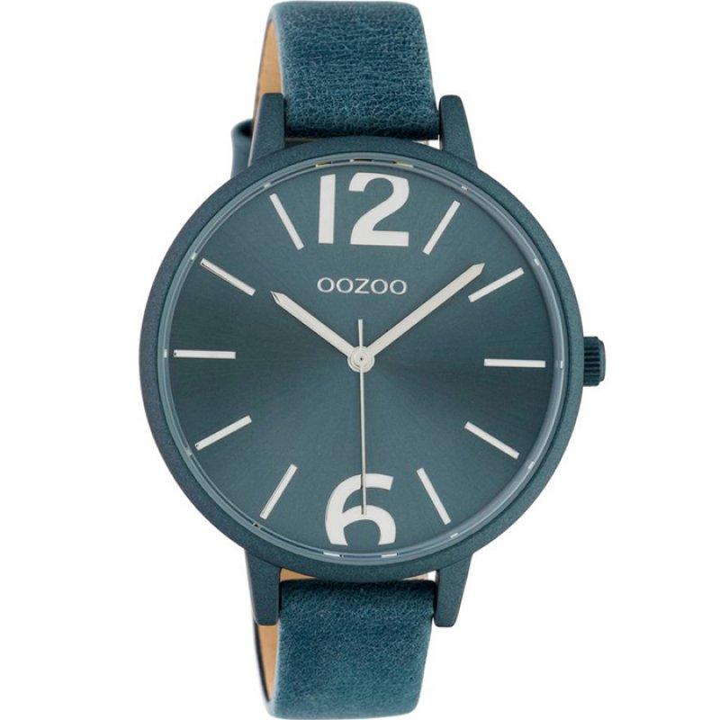 Ρολόι OOZOO Timepieces Blue Leather Strap - C10442