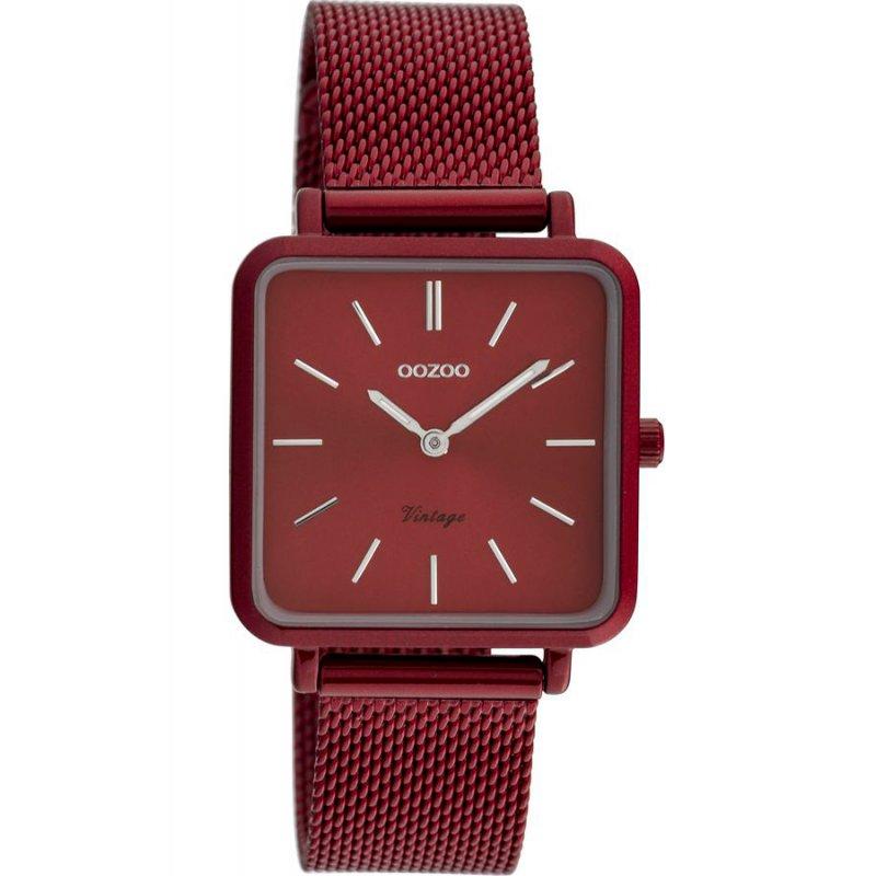 Ρολόι OOZOO Timepieces Vintage Bordeaux Metal Strap - C20011