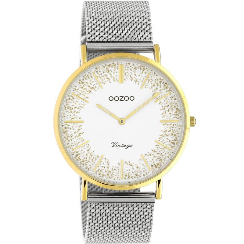 Ρολόι OOZOO Vintage Ladies 40mm Silver Metallic Bracelet - C20135