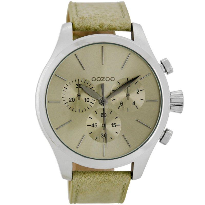 Ρολόι OOZOO Timepieces XL Beige Leather Strap - C7060