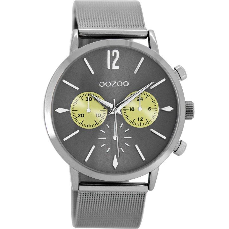 Ρολόι OOZOO Timepieces Titanium Grey Metallic Strap - C8779