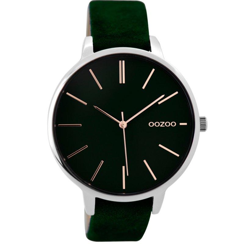 Ρολόι OOZOO Ladies XL Green Leather Strap - C9213